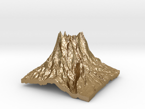 Mountain 2 in Polished Gold Steel: Small