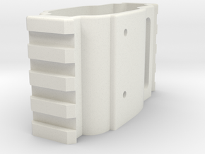 Airsoft Scar L extended front in White Natural Versatile Plastic