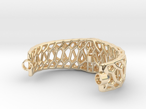 Mod. 80330-Voronoi in 14k Gold Plated Brass
