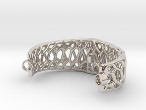 Mod. 80330-Voronoi in Rhodium Plated Brass
