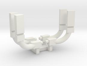 Freightliner Cascadia 2 pack set 1-87 HO Scale in White Natural Versatile Plastic