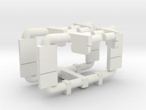 International Prostar 2 pack set 1-87 HO Scale in White Natural Versatile Plastic
