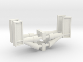 Kenworth 2 pack set 1-87 HO Scale in White Natural Versatile Plastic