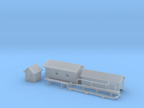 'N Scale' - Oil Depot Buildings & Piping in Smooth Fine Detail Plastic