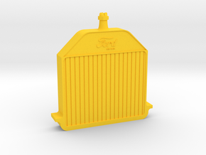Model T Radiator (1912-16) in Yellow Strong & Flexible Polished