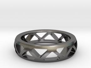 Geometric Ring- size 12 in Polished Nickel Steel: 12 / 66.5