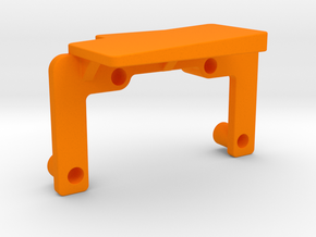 OX CNC - X Axis Drag Chain Mount Top v2 in Orange Strong & Flexible Polished