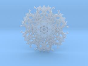 Rough transparent experimental shape for pendant o in Smoothest Fine Detail Plastic