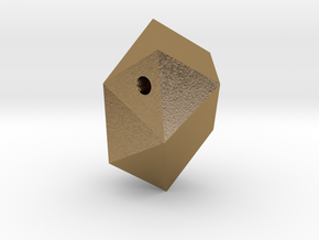 Go Geometric Pendant Egg in Polished Gold Steel