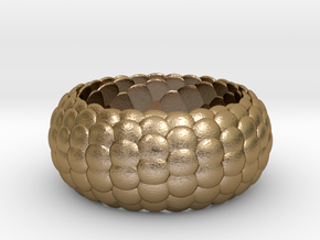 Ring Reptile style in Polished Gold Steel