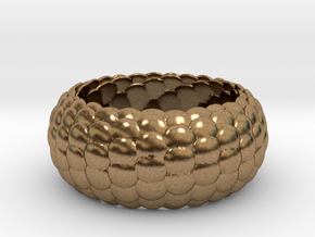 Ring Reptile style in Natural Brass