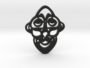 Mask Pendant in Black Premium Versatile Plastic