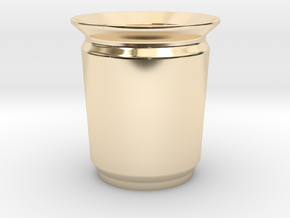 Modern Pencil Cup - Med / Desk Accessories in 14K Yellow Gold