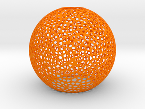 Sphere_vero_3_40mm in Orange Processed Versatile Plastic