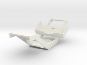 Wraith Chassis in White Natural Versatile Plastic