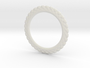 Soften ring shape for earrings or pendant in White Natural Versatile Plastic