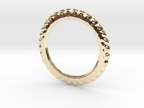 Soften ring shape for earrings or pendant in 14k Gold Plated Brass