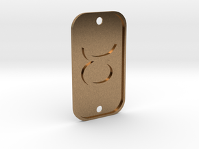 Taurus (The Bull) DogTag V1 in Natural Brass