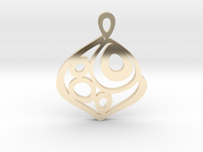 """One becomes three"" Pendant in 14k Gold Plated Brass"