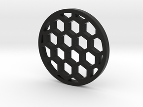 honneycomb 30mm in Black Natural Versatile Plastic
