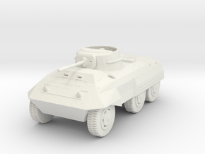 1/18 Scale M8 Greyhound Scout Car in White Natural Versatile Plastic