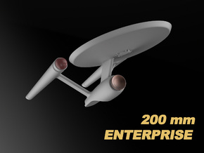 USS Enterprise, Mia's redesign, 200 mm in White Natural Versatile Plastic