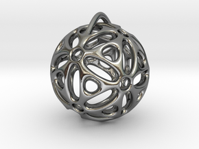 View of spherical games - part one. Pendant in Polished Silver