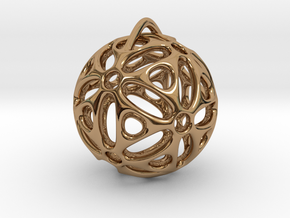 View of spherical games - part one. Pendant in Polished Brass