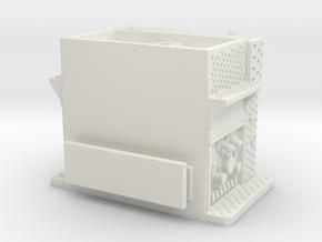 1/87 Rosenbauer Rochester NY pump section in White Natural Versatile Plastic