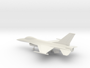 General Dynamics F-16A Fighting Falcon in White Natural Versatile Plastic: 1:72