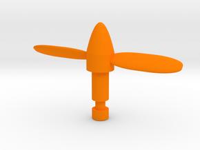 Micro Cessna Missile Propeller in Orange Processed Versatile Plastic