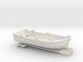 Skiff or for ship to shore, lifeboat - 1/48 scale  in White Strong & Flexible