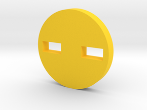 Shifty-Eyed Button in Yellow Processed Versatile Plastic