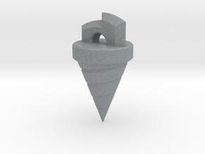 Gurren Lagann Drill Pendant in Polished Metallic Plastic