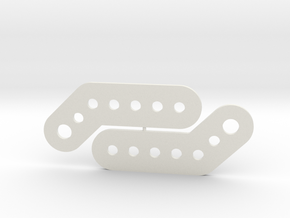 Angled Hinge in White Natural Versatile Plastic