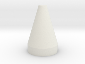 Flat Top Cone Spike in White Natural Versatile Plastic