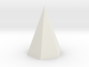 6-Side Pyramid Spike in White Natural Versatile Plastic