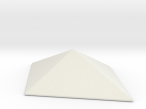 Diamond Pyramid Spike in White Natural Versatile Plastic