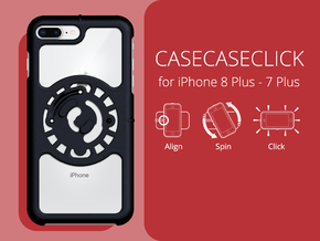 for iPhone 8Plus - 7Plus : core : CASECASE CLICK in Black Natural Versatile Plastic