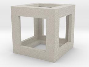 Mech Key Fidget Cube in Natural Sandstone