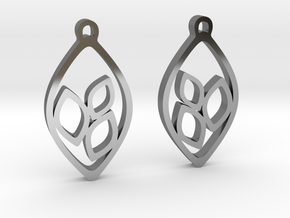 """Eyelets"" Earrings in Fine Detail Polished Silver"