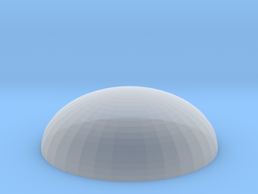 Dome base 50mm in Smooth Fine Detail Plastic