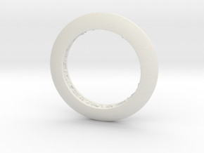 Ring shaped pendant with a raw band inside in White Premium Versatile Plastic
