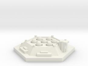 Silo misiles 7  in White Natural Versatile Plastic