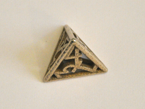 D4 Balanced - Numbers Only in Polished Bronzed Silver Steel