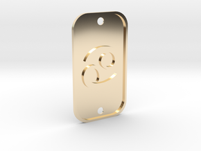 Cancer (The Crab) DogTag V1 in 14k Gold Plated Brass
