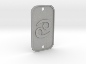 Cancer (The Crab) DogTag V1 in Aluminum