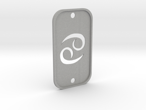 Cancer (The Crab) DogTag V2 in Aluminum