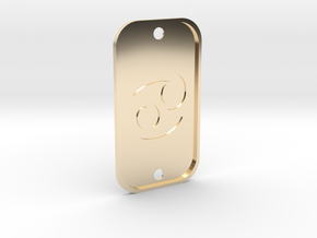 Cancer (The Crab) DogTag V4 in 14k Gold Plated Brass
