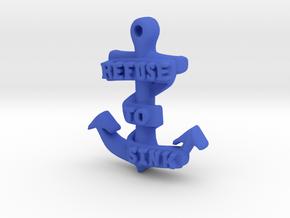 Refuse to Sink Pendant in Blue Processed Versatile Plastic